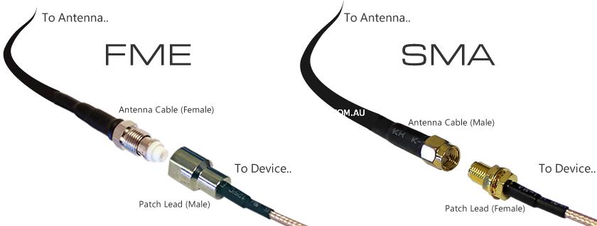 FME patch lead vs SMA patch cable