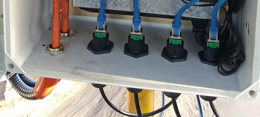 Rj45 Cat6 Ip67 Waterproof Bulkhead  U0026 Outdoor Connector