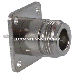 N Flange panel mount connector