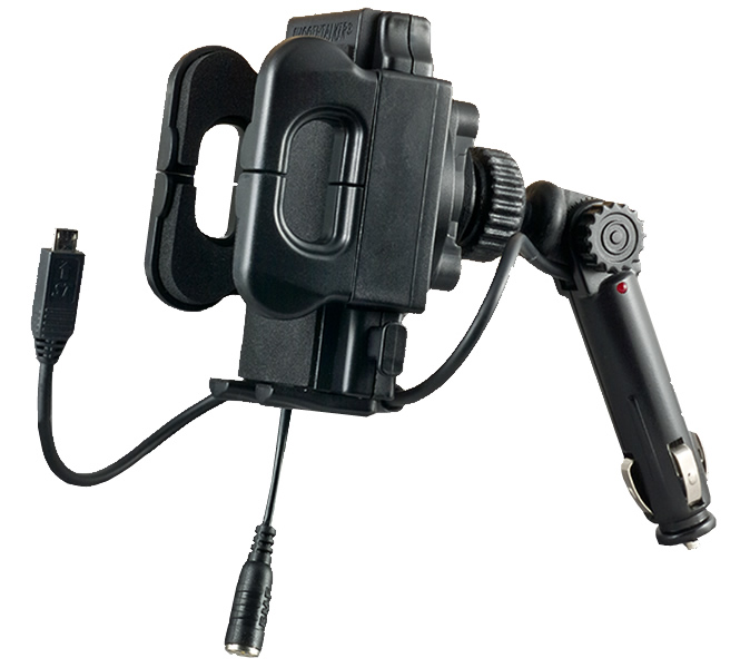 cigarette lighter mounted smoothtalker universal cradle for external antennas and aerials