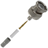 BNC Male Crimp Connector - RG174/RG316/LMR100