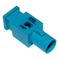 FAKRA SMB Plug: Neutral Code, Water Blue (RAL 5021)