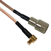 MCX Right Angle Male to FME Male Patch Lead - 15cm Cable