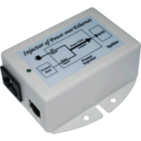 AC-DC Gigabit Passive PoE Injector & Surge Protector - 240VAC to 48VDC
