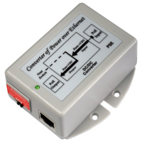 DC-DC Power over Ethernet Injector - 802.3af 48VDC to 24VDC