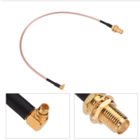 MMCX Right Angle to SMA Female Patch Lead - 15cm Cable