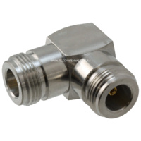 N Female to N Female Right Angle Adapter