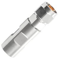 "N Male Ring-Flare Connector - 1/2"" Flexible Cable"
