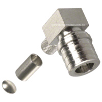 QMA Male Right Angle Crimp Connector - RG58/LMR195/Belden 9907