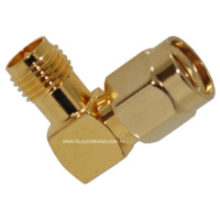RP-SMA Female to RP-SMA Male Right Angle Adapter