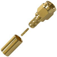 RP-SMA Male Crimp Connector - RG58/LMR195/Belden 9907