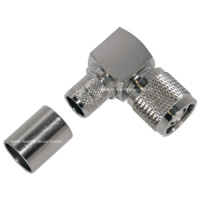 RP-TNC Male Right Angle Crimp Connector - LMR400/RG8