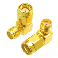 SMA Female to RP-SMA Male Right Angle Adaptor