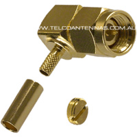 SMA Male Right Angle Crimp Connector - RG174/RG178/RG188/RG316