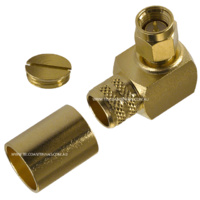 SMA Male Right Angle Crimp Connector - LMR400/RG8
