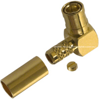 SMB Female Right Angle Crimp Connector - RG174/RG178/RG188/RG316