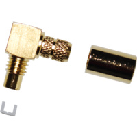SMC Male Right Angle Crimp Connector - RG58/LMR195/Belden 9907