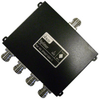 Signal Splitter 4-Way - Weatherproof N Female - 698-2700MHz