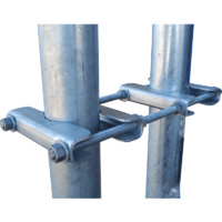 Telco Galvanised Parallel Clamp Antenna Bracket