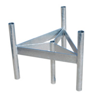 Heavy Duty Galvanised Mast Head - 3 Sector Cluster Mount