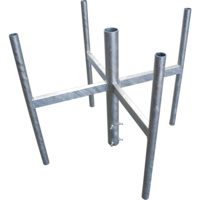 Heavy Duty Galvanised Mast Head - 4 Sector Cluster Mount (To Suit Lowering Octagonal Mast)