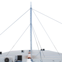 21m Aluminium Lattice Roof Mounted Serviceable Guyed Tower (210mm Faced)