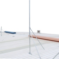 Galvanised Roof Mounted Hinged Mast - 3m