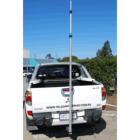 Aluminium Tow Ball replacement with 5.7m Aluminium Telescopic Mast - Quickly Removable