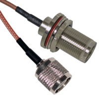 TNC Male to N Female Bulkhead Patch Lead - 15cm Cable
