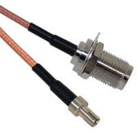 TS9 to TNC Female Patch Lead - 15cm Cable