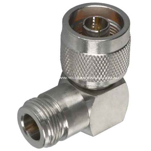 N Female to N Male Right Angle Adapter