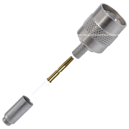RP-TNC Male Crimp Connector - RG174/RG316/LMR100