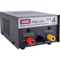 GME PSA123 4 Amp, Regulated DC Power Supply 240V-13.8V