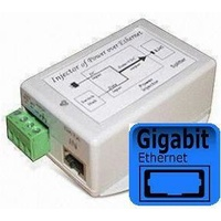 DC-DC Gigabit Passive Power over Ethernet Injector - 12VDC to 48VDC