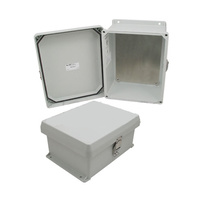 Weatherproof Enclosure with Blank Aluminum Mounting Plate - 10x8x5 Inch