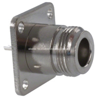 N Female Panel Mount - Square Flange