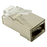 RJ45 Ethernet Crimp Connectors - ESD Shielded Cat5e
