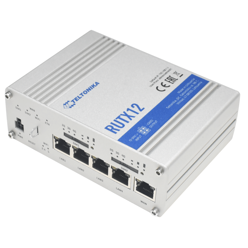 Teltonika Dual LTE-A CAT6 Cellular IoT Router - RUTX12