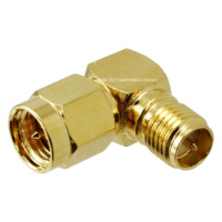 RP-SMA Female to SMA Male Right Angle Adaptor