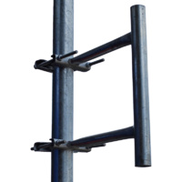 Telco Galvanised Clamp Stand Off Mount - 50mm
