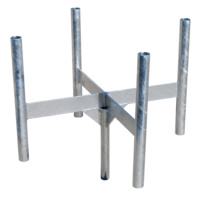 Heavy Duty Galvanised Mast Head - 4 Sector Cluster Mount