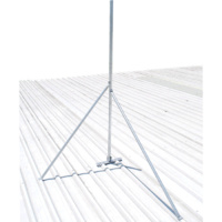 Medium Duty Galvanised Tin Roof Mount 32mm - Various Lengths