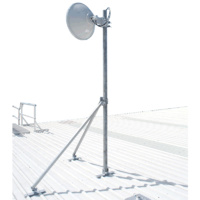 Heavy Duty Galvanised Roof Mounted Serviceable Microwave Mast - 75mm OD, Custom Length-3m