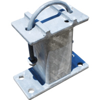 Heavy Duty Galvanised Box Section Wall Mounting Bracket