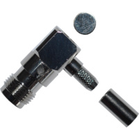 TNC Female Right Angle Crimp Connector - RG58/LMR195/Belden 9907