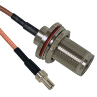 TS9 to N Female Bulkhead Patch Lead - 15cm Cable