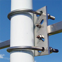 Telco S48-90 Stainless Right Angle Antenna Bracket - Square Boom