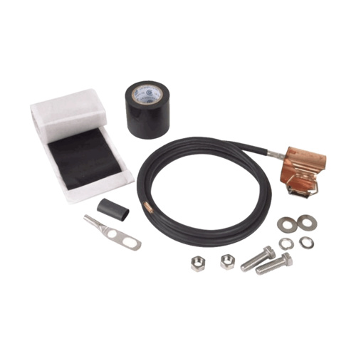 "Feeder Earthing Kit, Tinned Copper, Suit Ø 1-5/8"" Coaxial Cable"