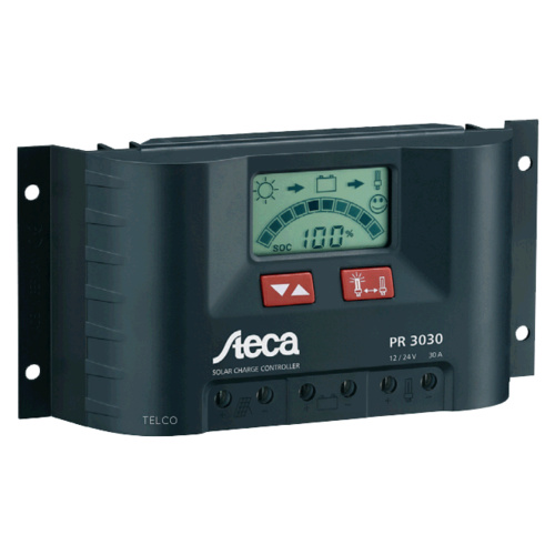 Steca PR 30A Solar Regulator Charge Controller 12/24V with LCD