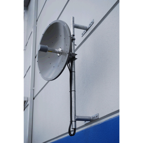 Heavy Duty Galvanised Wall/Building Antenna Side Mounting Post